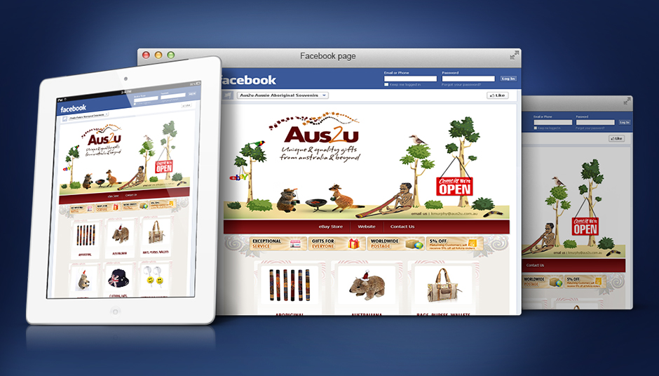 Facebook Fan page Design for Aus2u by Efusionworld